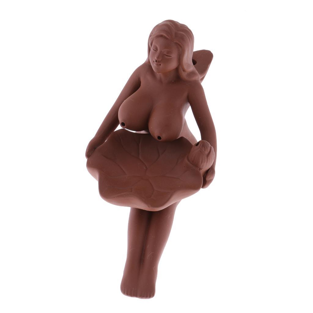 Porcelain Backflow Ceramic Incense Burner Smoke Tower Fragrance Seat Girl #5