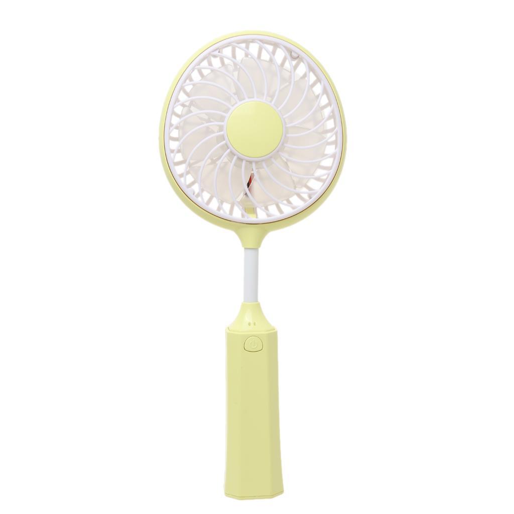 New Handheld Portable Mini Cool USB Fan Rechargeable Badminton Shape Yellow