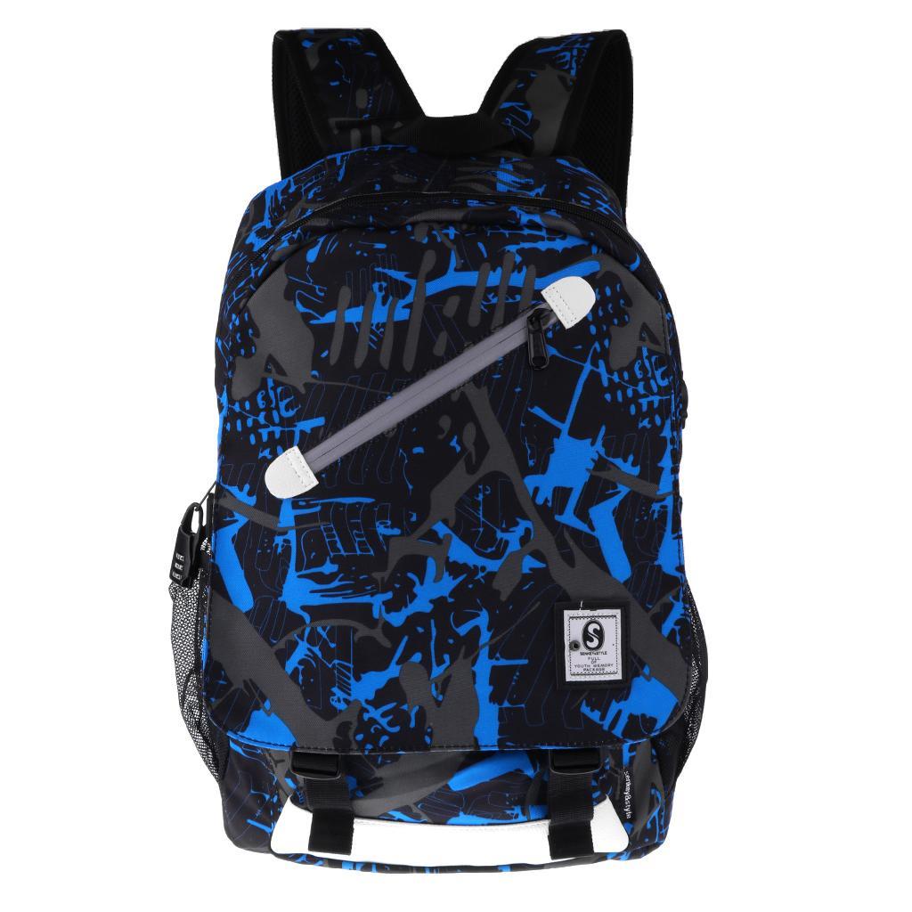 Anti-theft Backpack Laptop Shoulder Bag Travel w/ USB Port For Men College