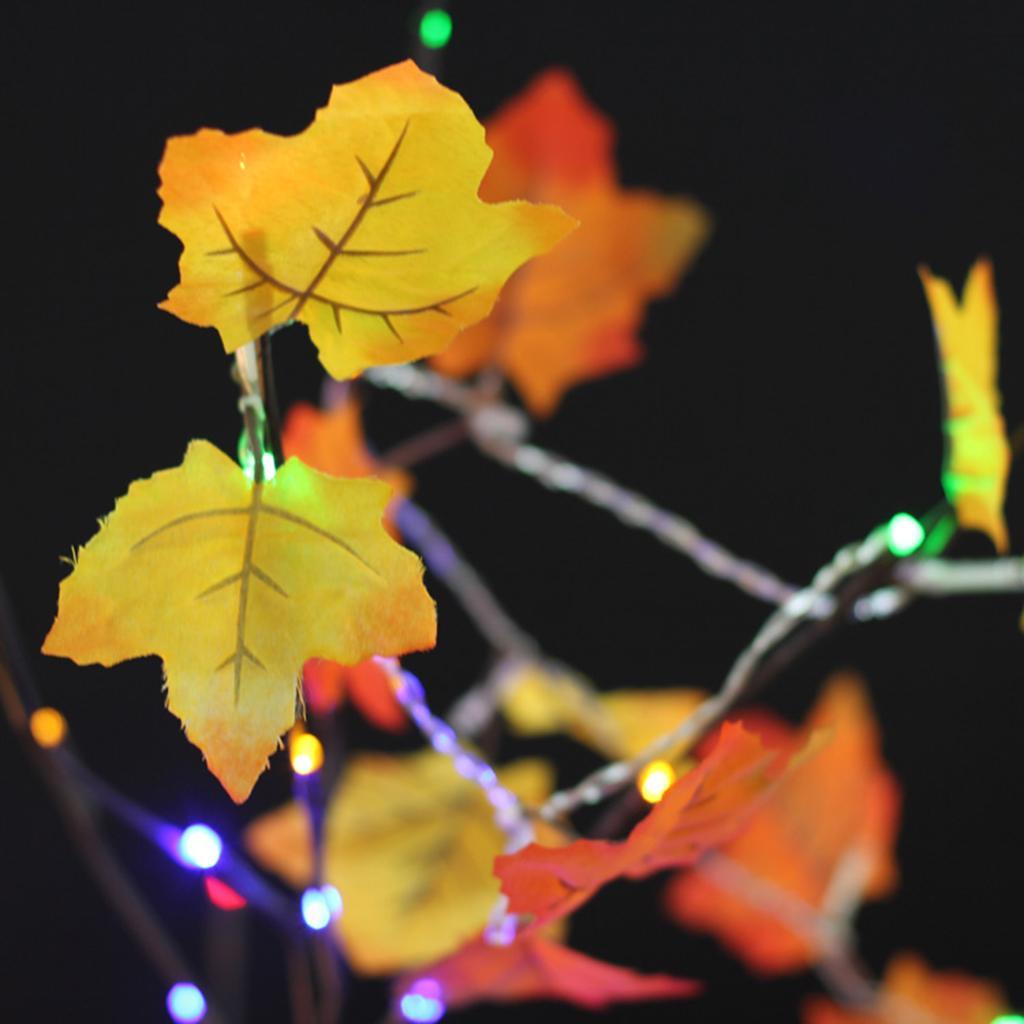 Battery Powered Maple Leaves String Fairy Light Decor Lamp Warm White