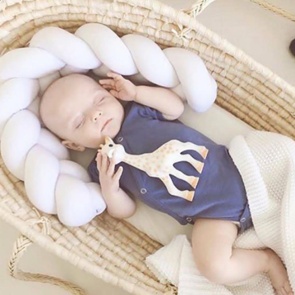 Lovely Plush Twist Marshmallow Hugging Soft Pillow Cushion  1M#White
