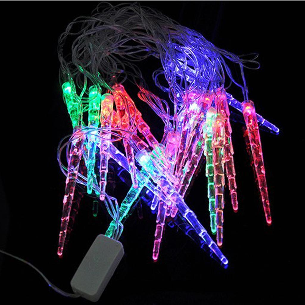-LED Fairy Hanging String Light Icicle Wedding Christmas Rope Lamp 4m EU