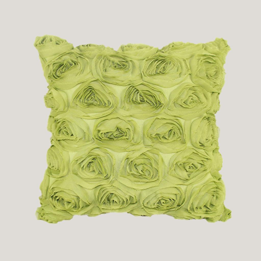 40*40cm Flower Design Cushion Cover Pillow Case Home Sofa Decor  Green