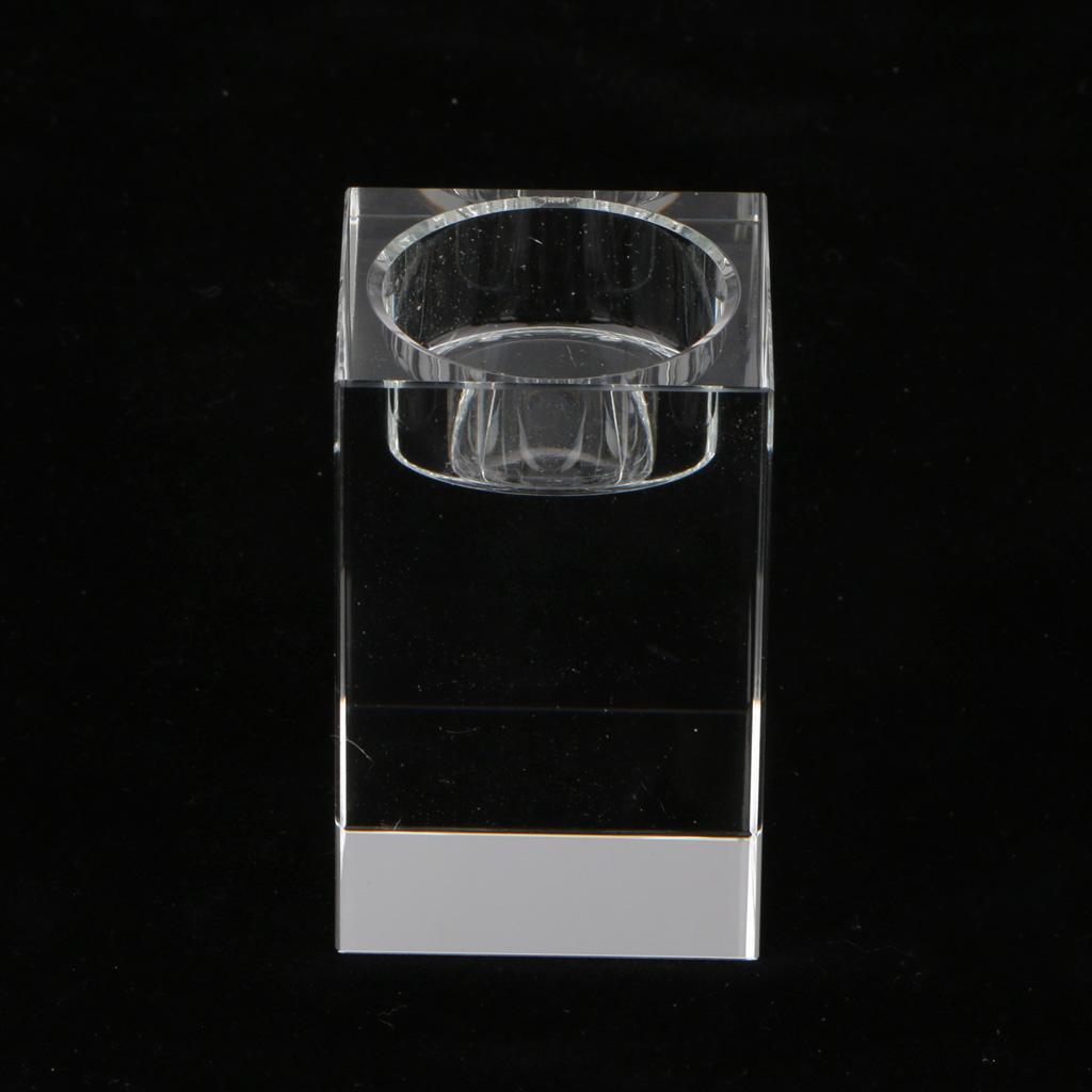 Crystal Tea Light Holder Candle Holder Wedding Party Home Decor 80mm_Glass