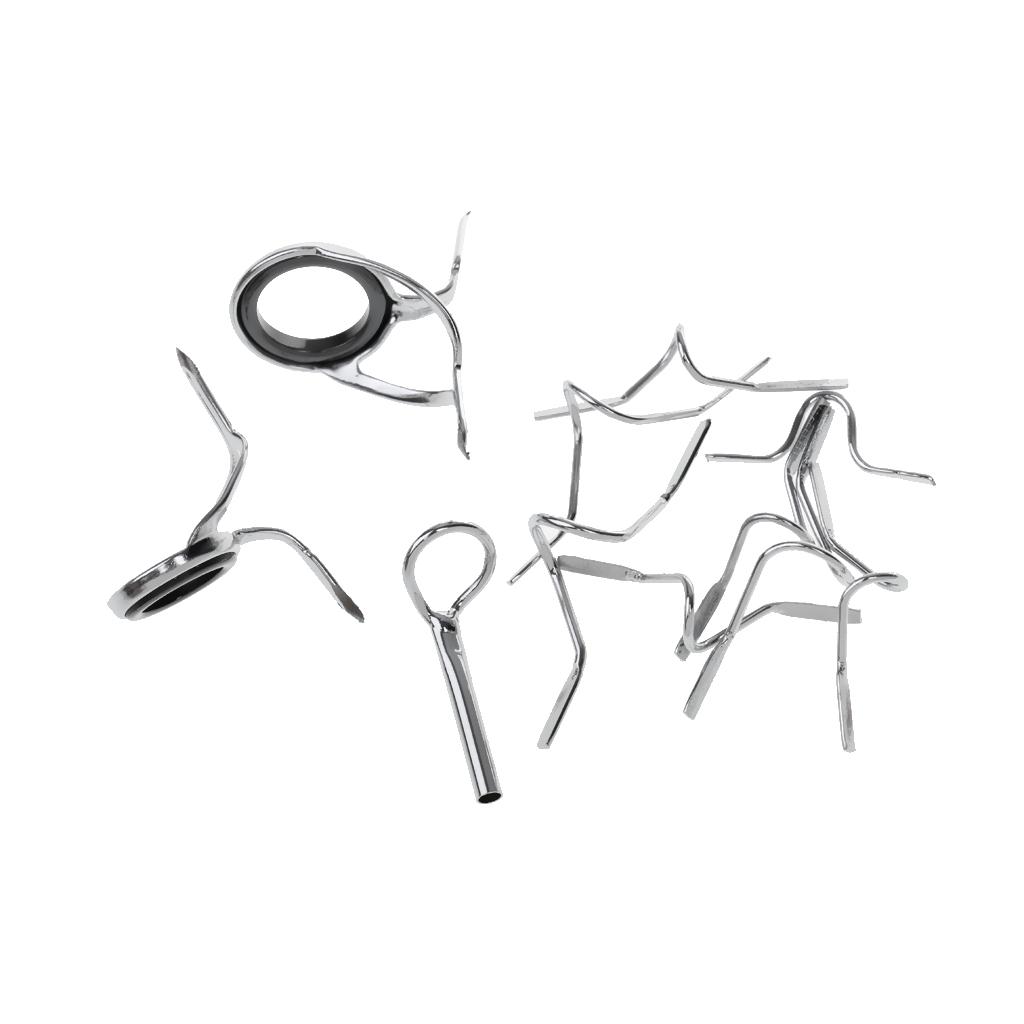 11pcs Fly Fishing Rod Guide Set 9FT 4-6WT Hard Chrome Snake Guide Tip Hook