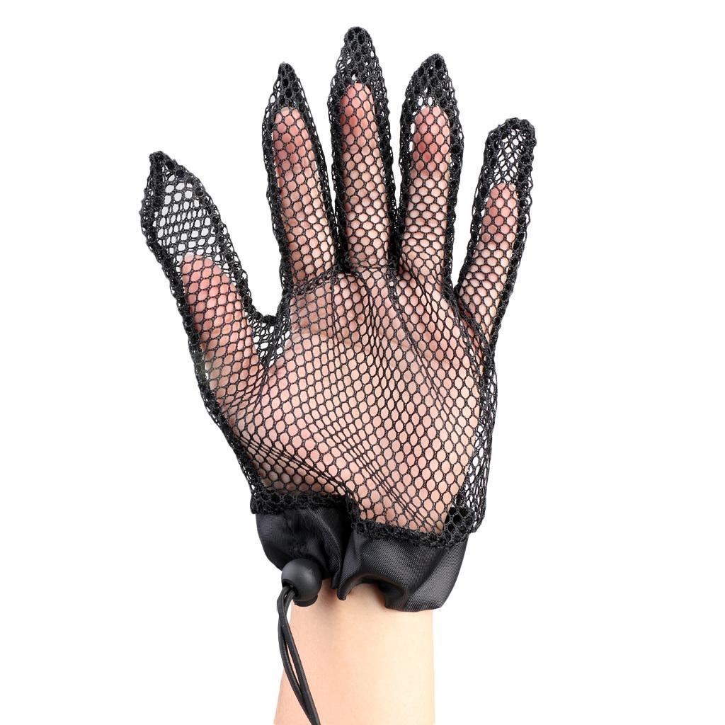 1 Piece Net Mesh Fishing Gloves Anti-Slip Fishing Gloves&Retracta...
