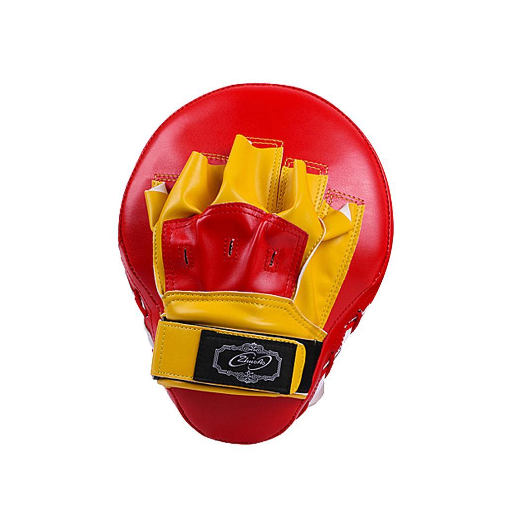 Muay Thai MMA Boxing Training Mitt Karate Taekwondo Kick Target Pad Red