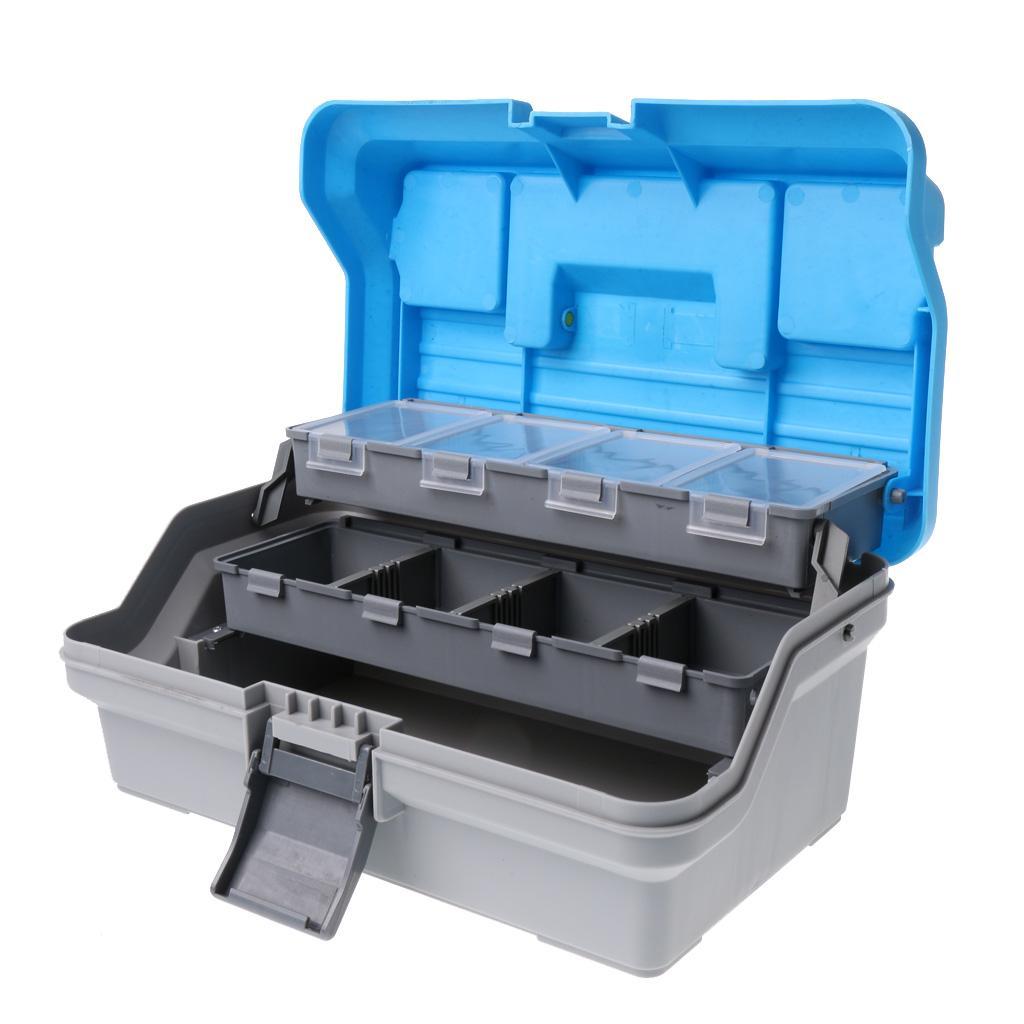3 layers large fishing tackle box full bait storage case for Fishing tackle storage