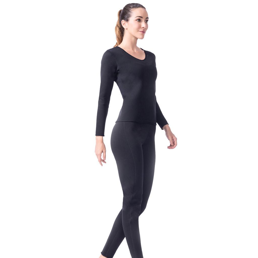 Women Slimming Suit Sweat Hot Neoprene T-shirt Body Shaper Weight Loss XL