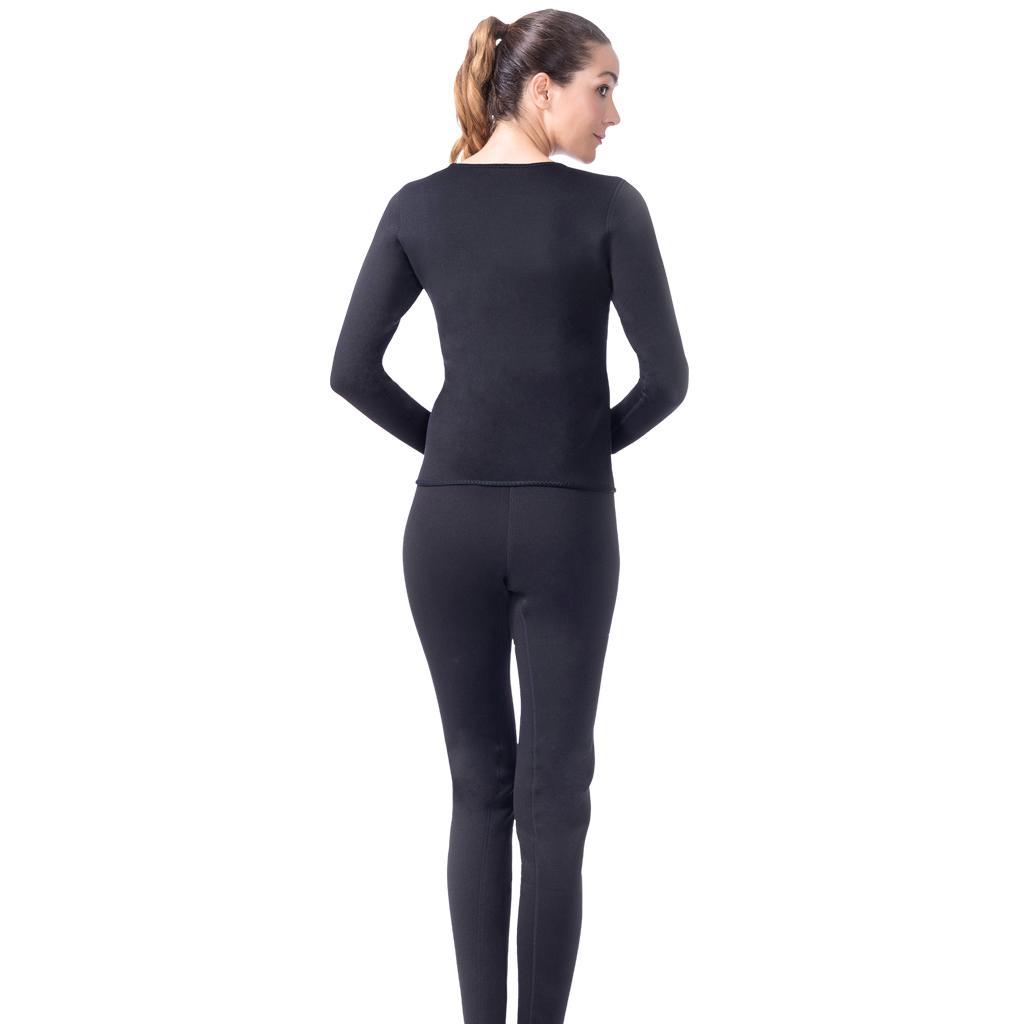 Women Slimming Suit Sweat Hot Neoprene T-shirt Body Shaper Weight Loss M