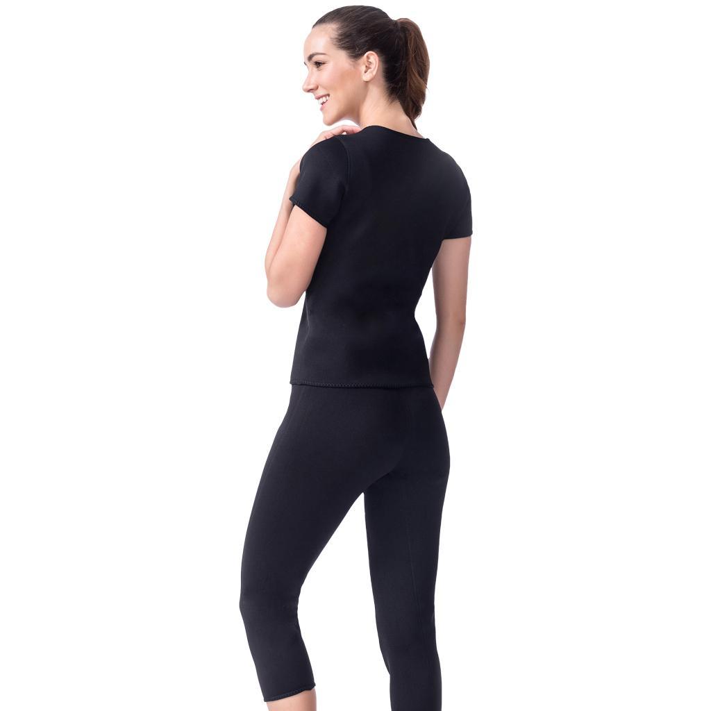 Neoprene Sweat Suit Weight Loss Slimming Shapewear Set Shirt Body Shaper M