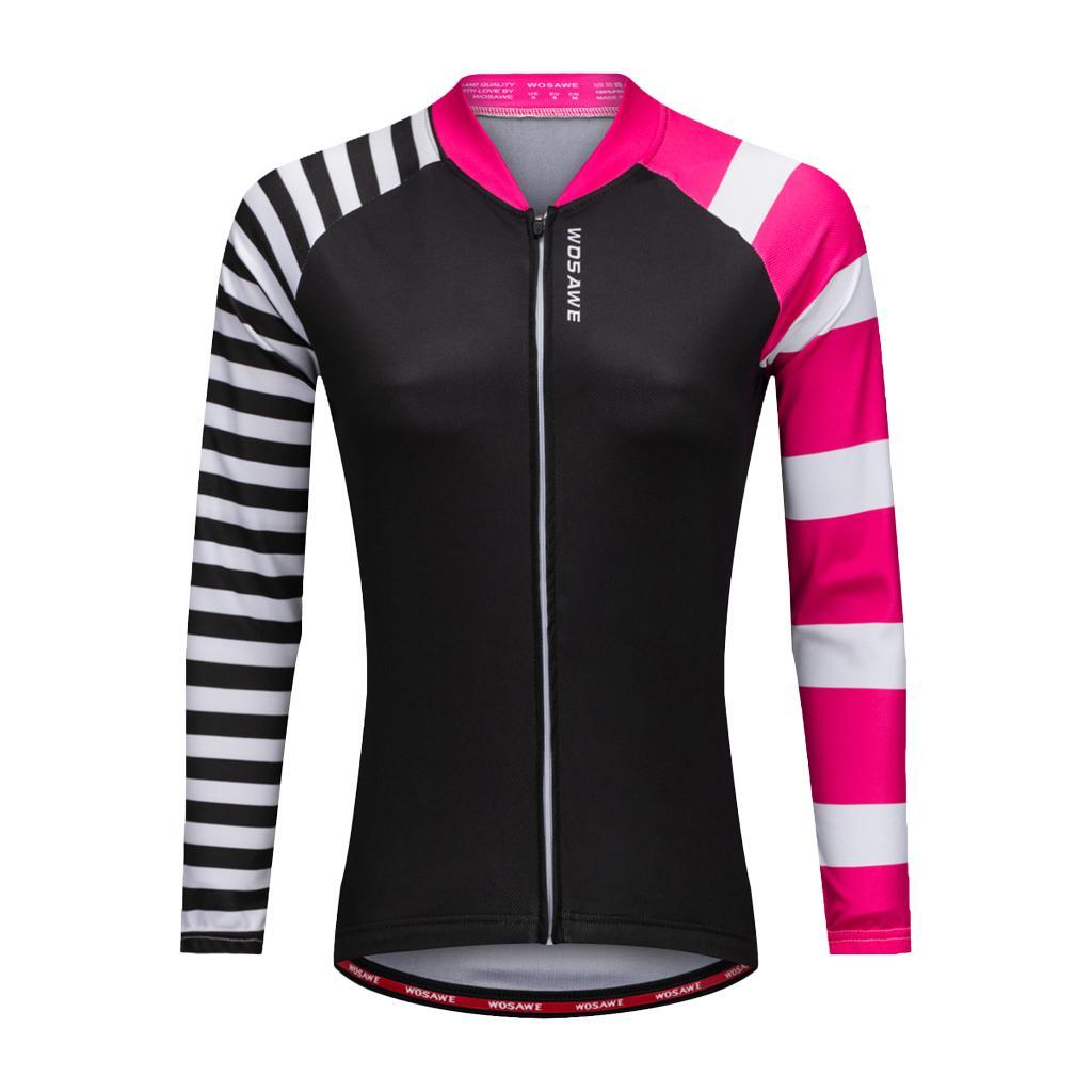 Woman's Cycling Clothing Bicycle Jersey Sportswear Long Sleeve Top Shirt XL