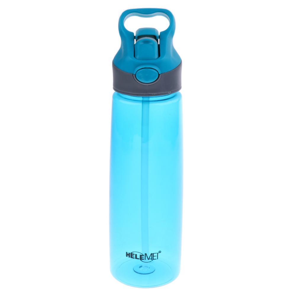 700ML Plastic Water Bottle Cup Flip Straw Bottle for Sports Gym T...