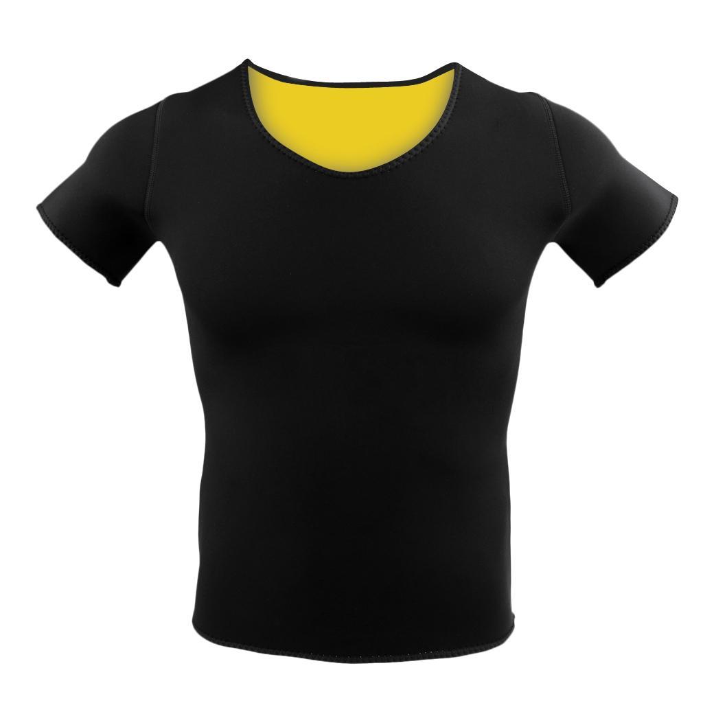 Women Neoprene Sport T Shirt Short Sleeve Yoga Fitness Exercise Top Black M