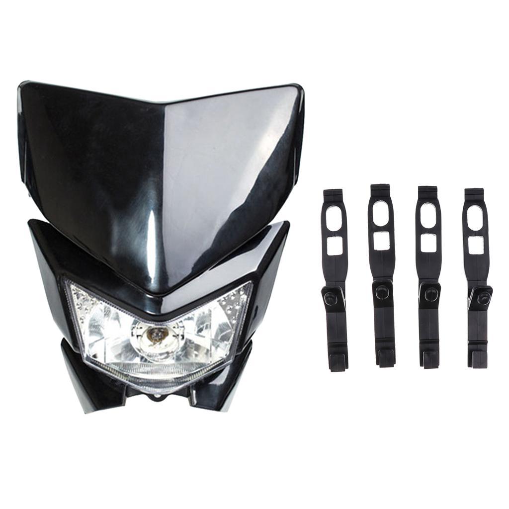 12V Universal for Motorcycle Dirt Bikes Head Lamp Headlight Mask