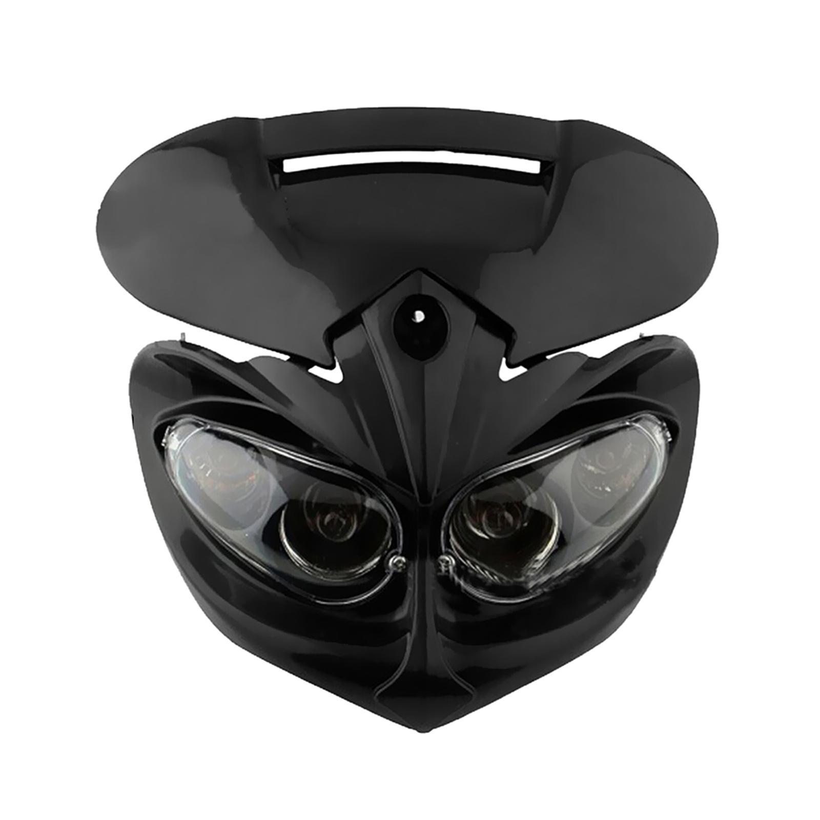 12V Universal for Motorcycle Head Lamp Fairing Headlight Mask