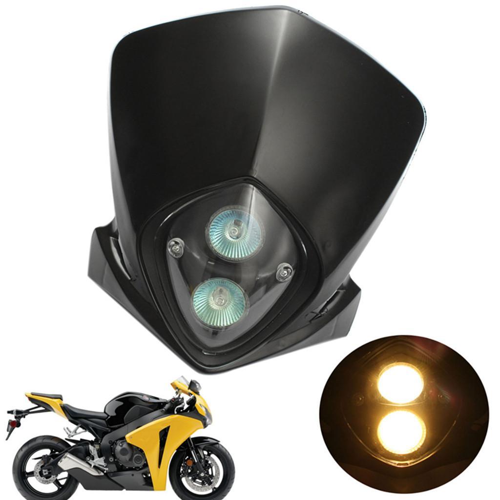 Universal Motorcycle Headlight for Enduro Cross Dirt Bike Streetfighter