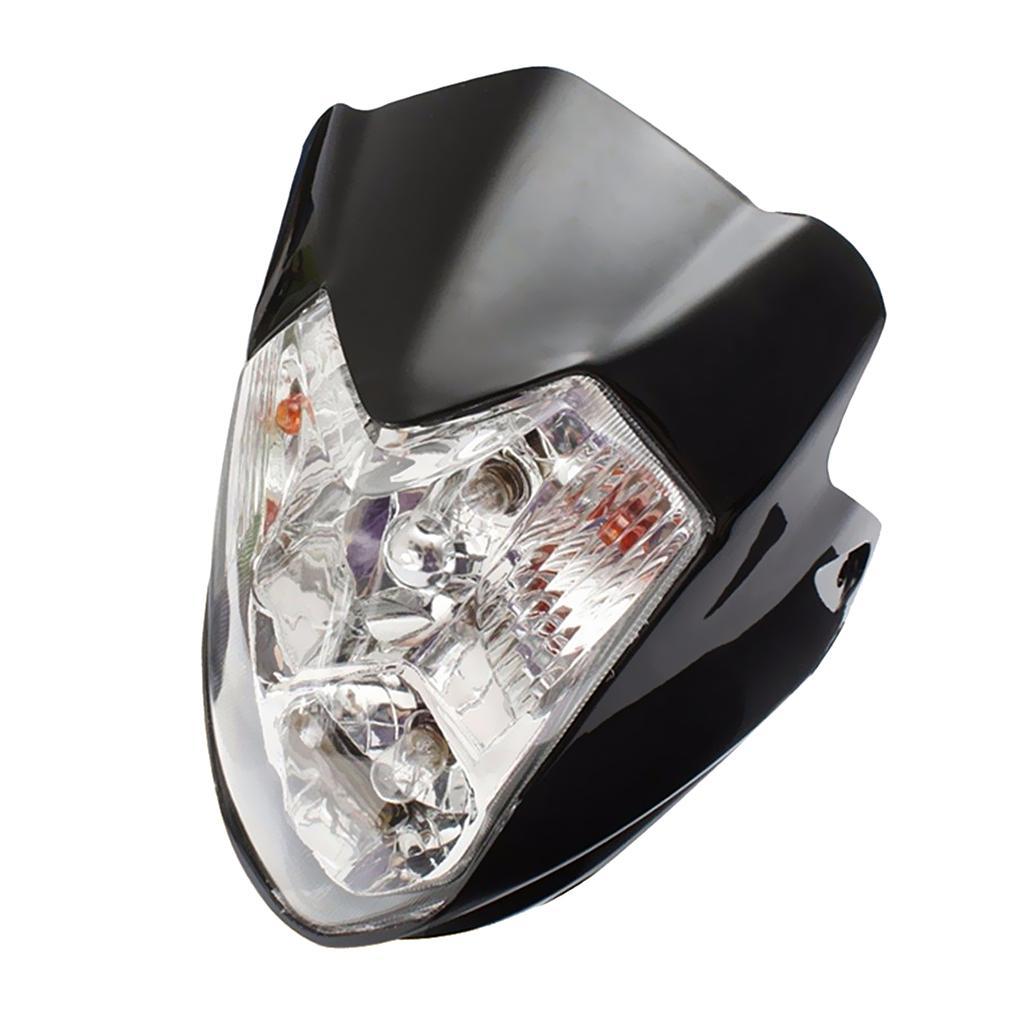 Motorcycle Bike ATV Amber Light H4 Hi/Low  Headlight with Turn Signal Light