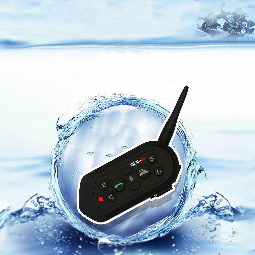 1200M Bluetooth Motor Helmet Interphone Intercom Headset E6