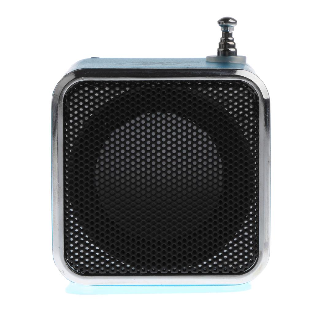 Mini Speaker MP3 Music Player Support FM Radio TF Card USB blue