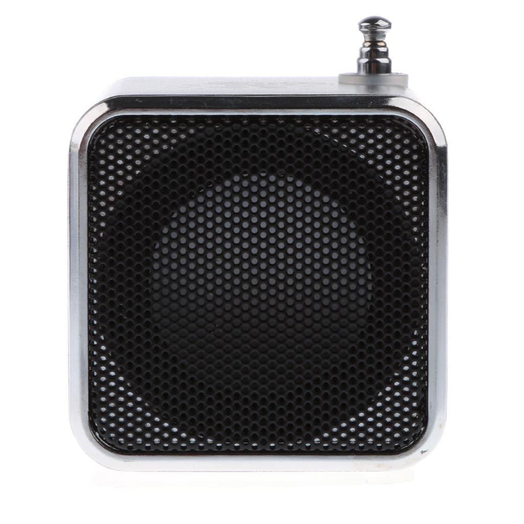 Mini Speaker MP3 Music Player Support FM Radio TF Card USB silver