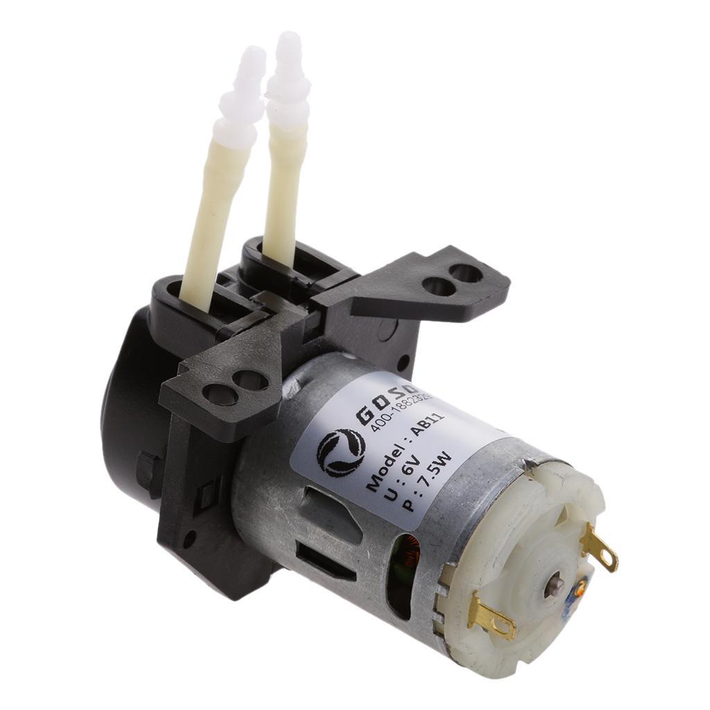 6V Peristaltic Liquid Miniature Dosing Hose Pump for Aquarium Lab...