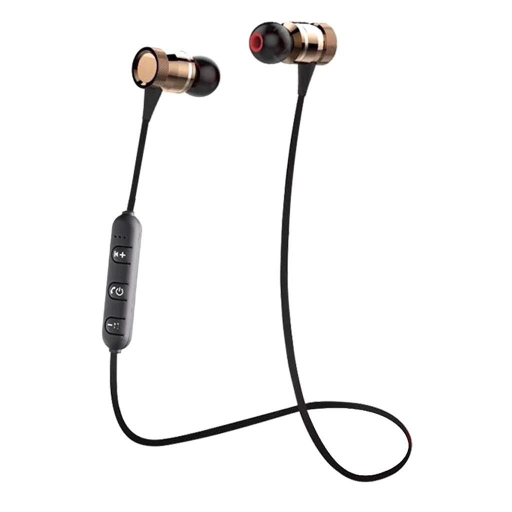 Wireless Bluetooth Earphone Headphone Magnet Design Sport Sweatproof brown