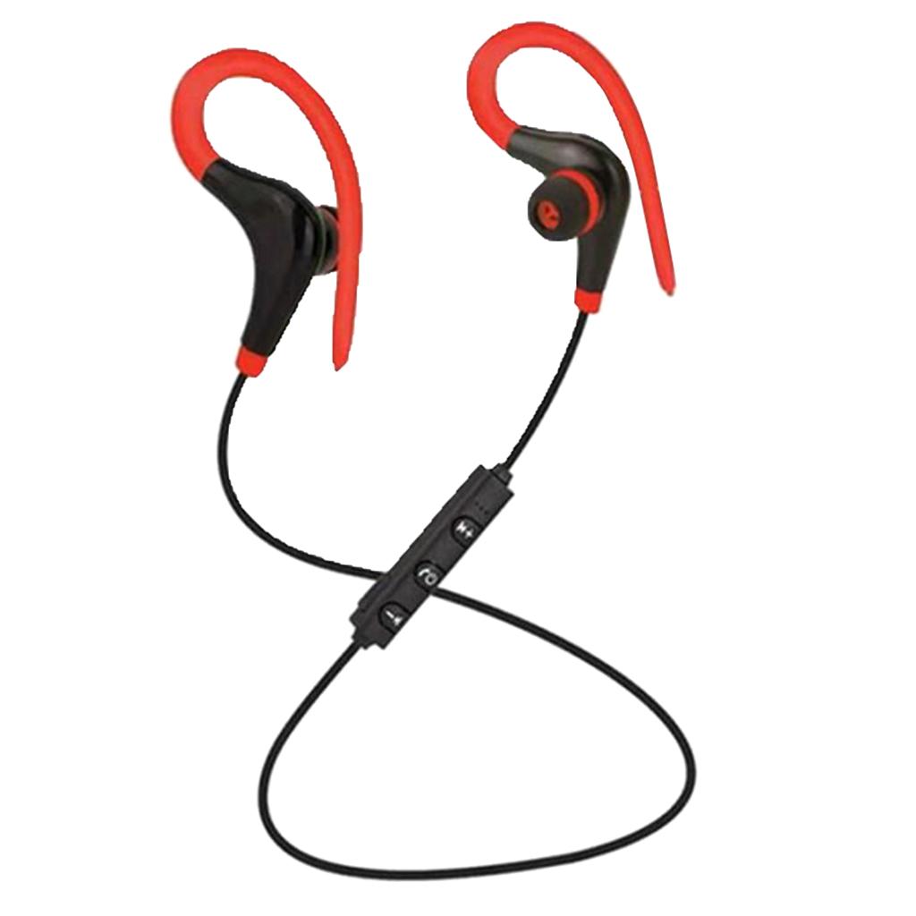 Earhook sports wireless bluetooth earphone black+red