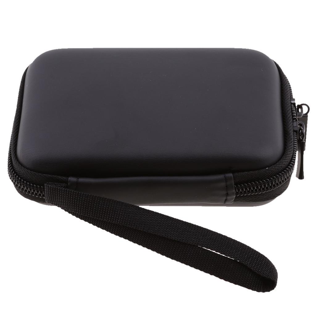2.5 inch Portable Bag Disk Drive Hard Box Case Cover 135x105x35mm black