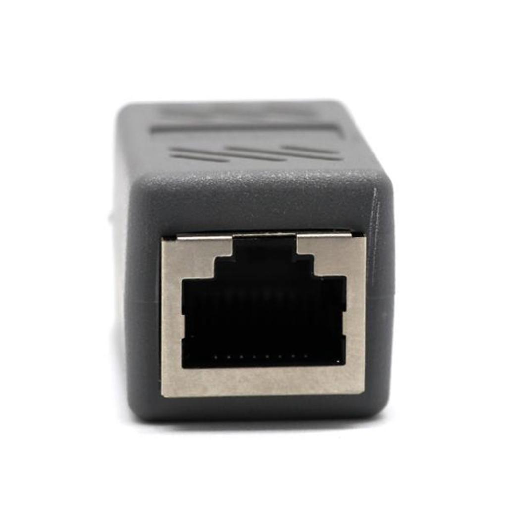 RJ45 Female to Female Network Ethernet LAN Connector Adapter  gra...