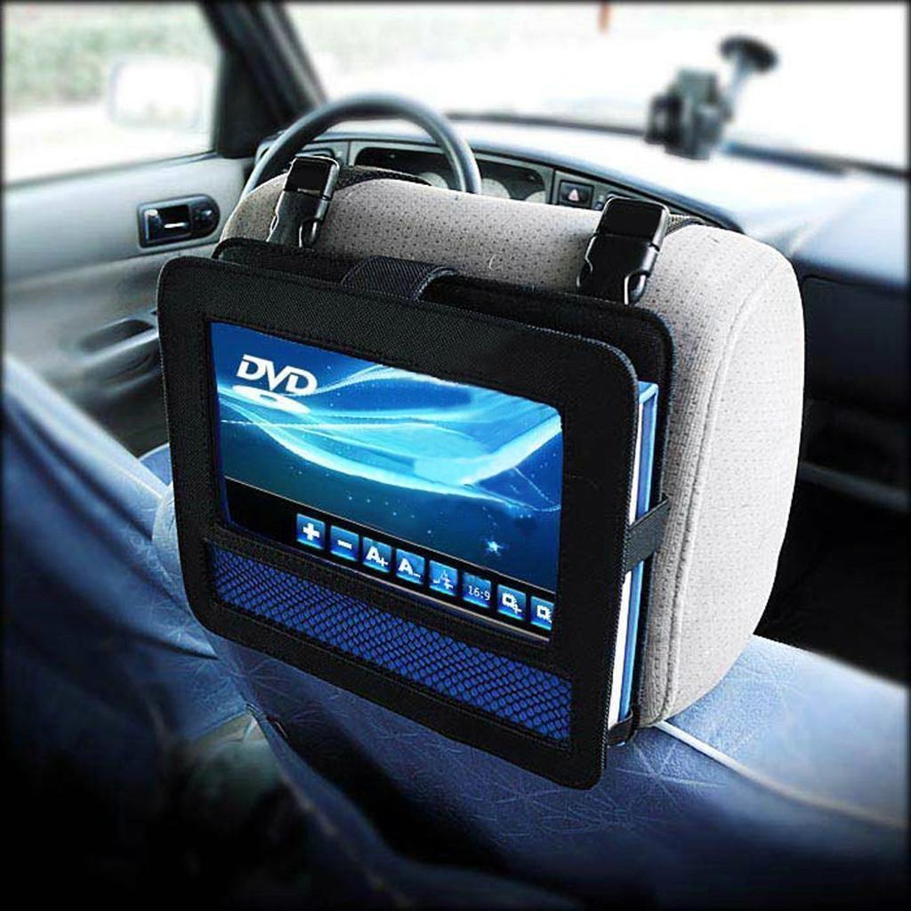 Car Headrest Mount for 9 Inch Swivel Flip Portable DVD Player Holder