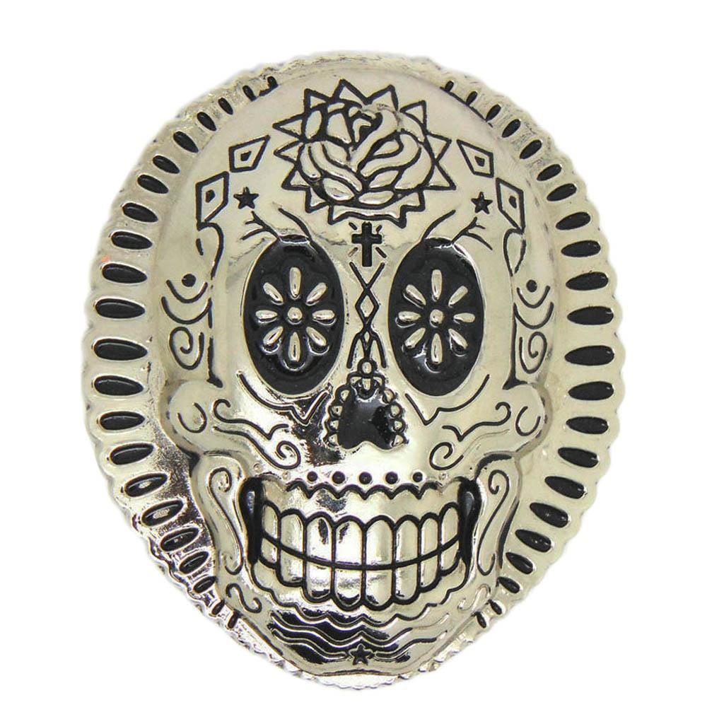 Vintage Totem Tattoo Skull Belt Buckle Cowboy Western Men's Acces...
