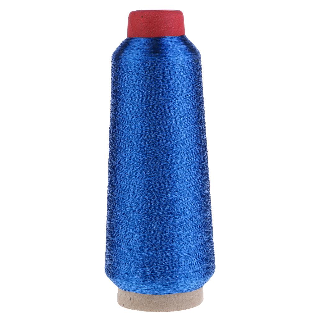 Metallic Machine Embroidery Threads For Computer Cross-stitch Dark Blue
