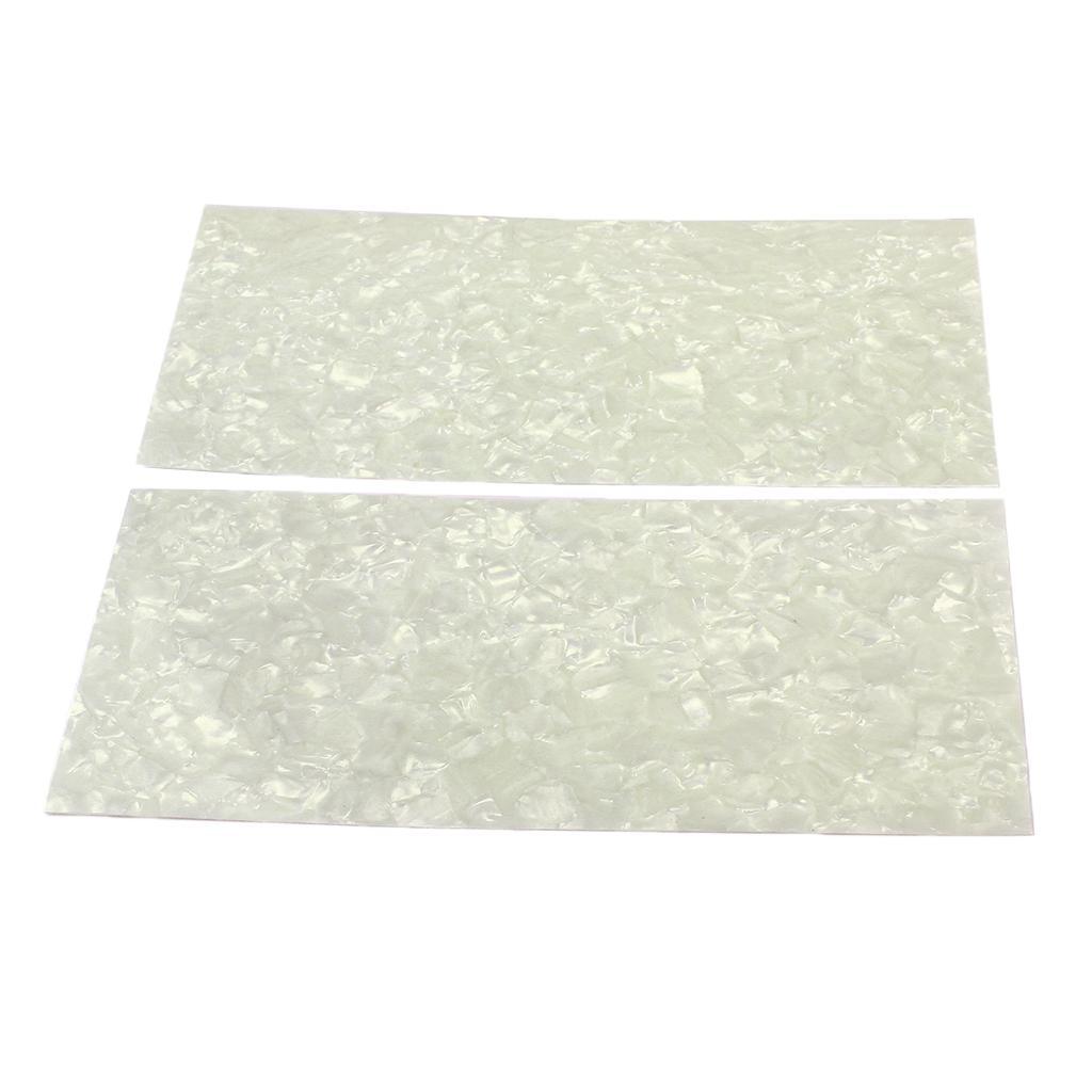 2 Pieces DIY White Pearl Guitar Material Purfling Sheet Head Veneer Shell