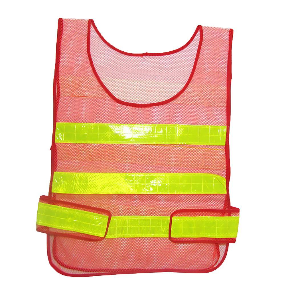 Adjustable Hi-Vis Safety Vest Reflective Jacket Security Waistcoa...