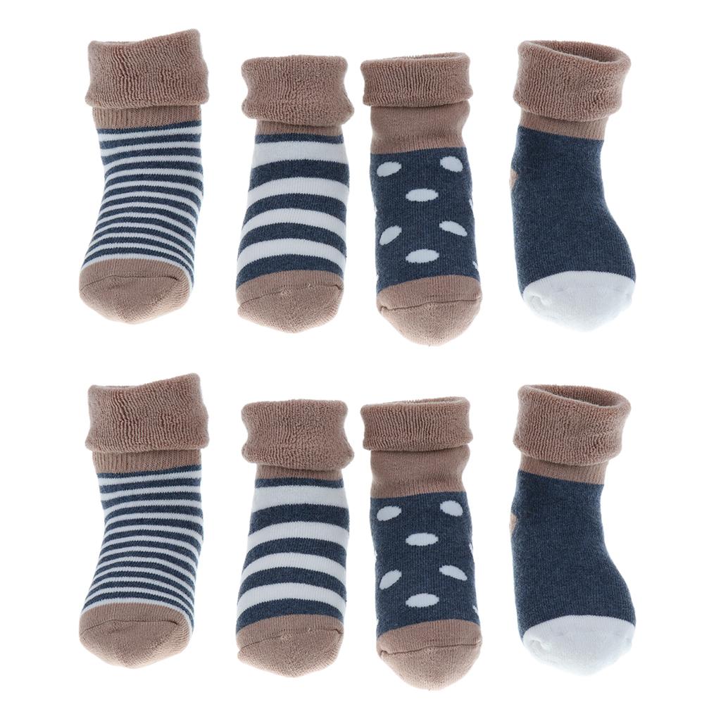 4 pairs of cotton children socks 1-3Year Blue