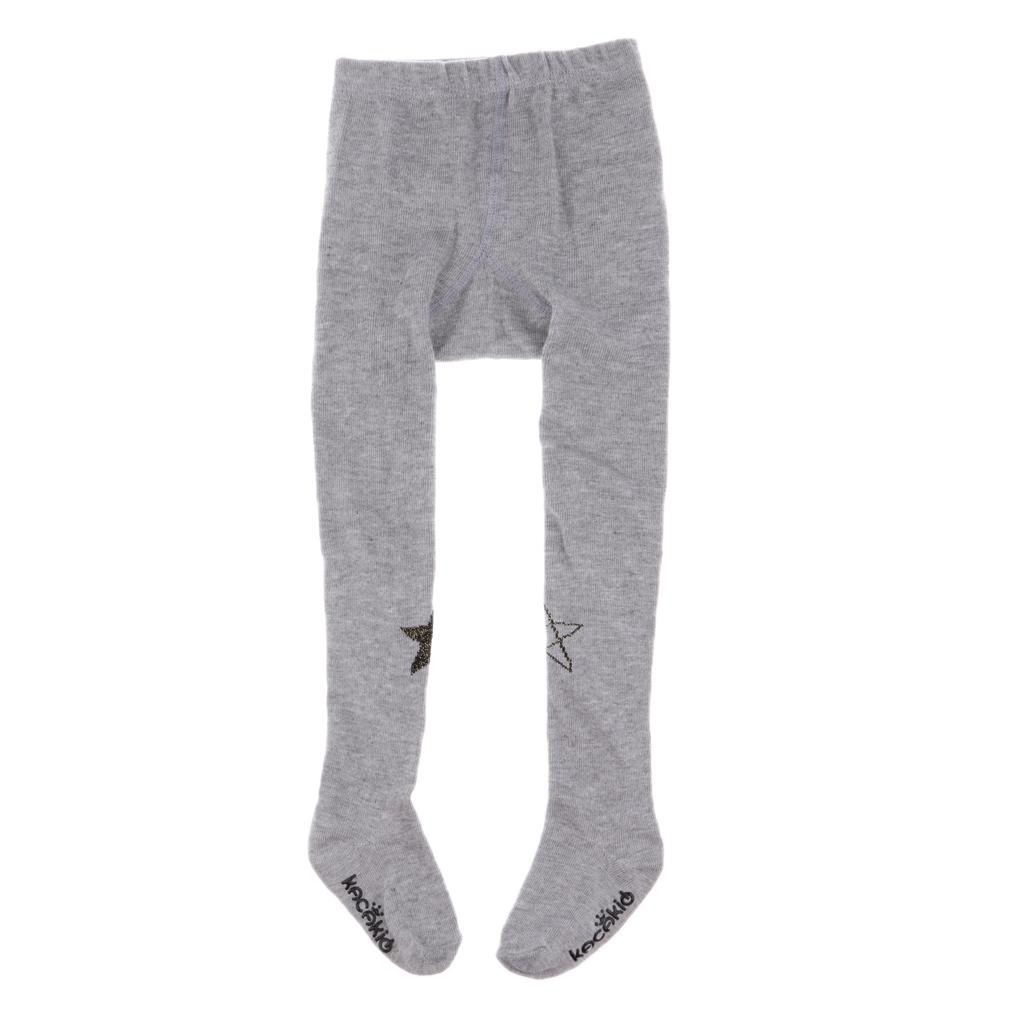 Infant Kids Girls Cotton Warm Pantyhose Socks Stockings Tights 0-2Y Grey Star