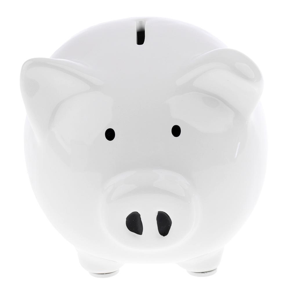 Baby Ceramic Piggy Bank Coin Money Cash Collectible Saving Box Pi...