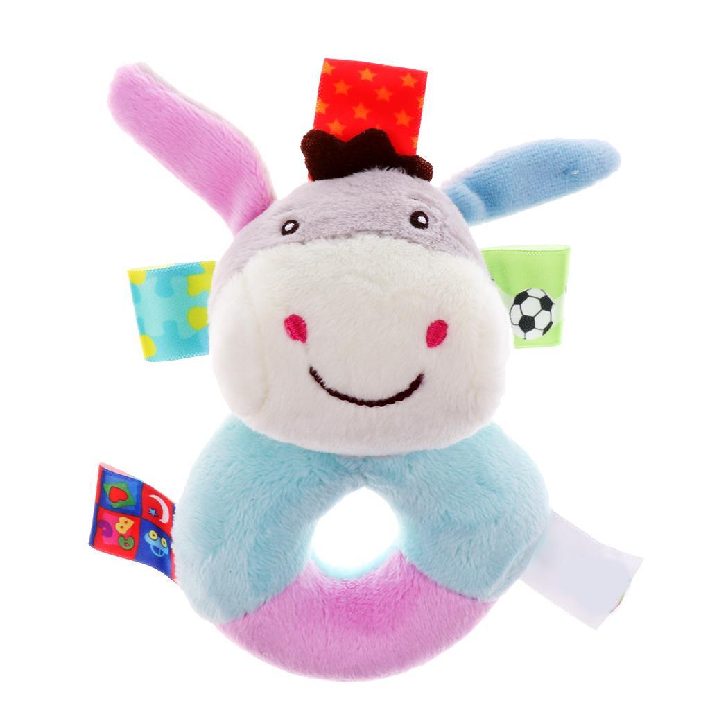 Baby Wrist Hand Bell Rattle Soft Plush Stuffed Educational Toy Do...