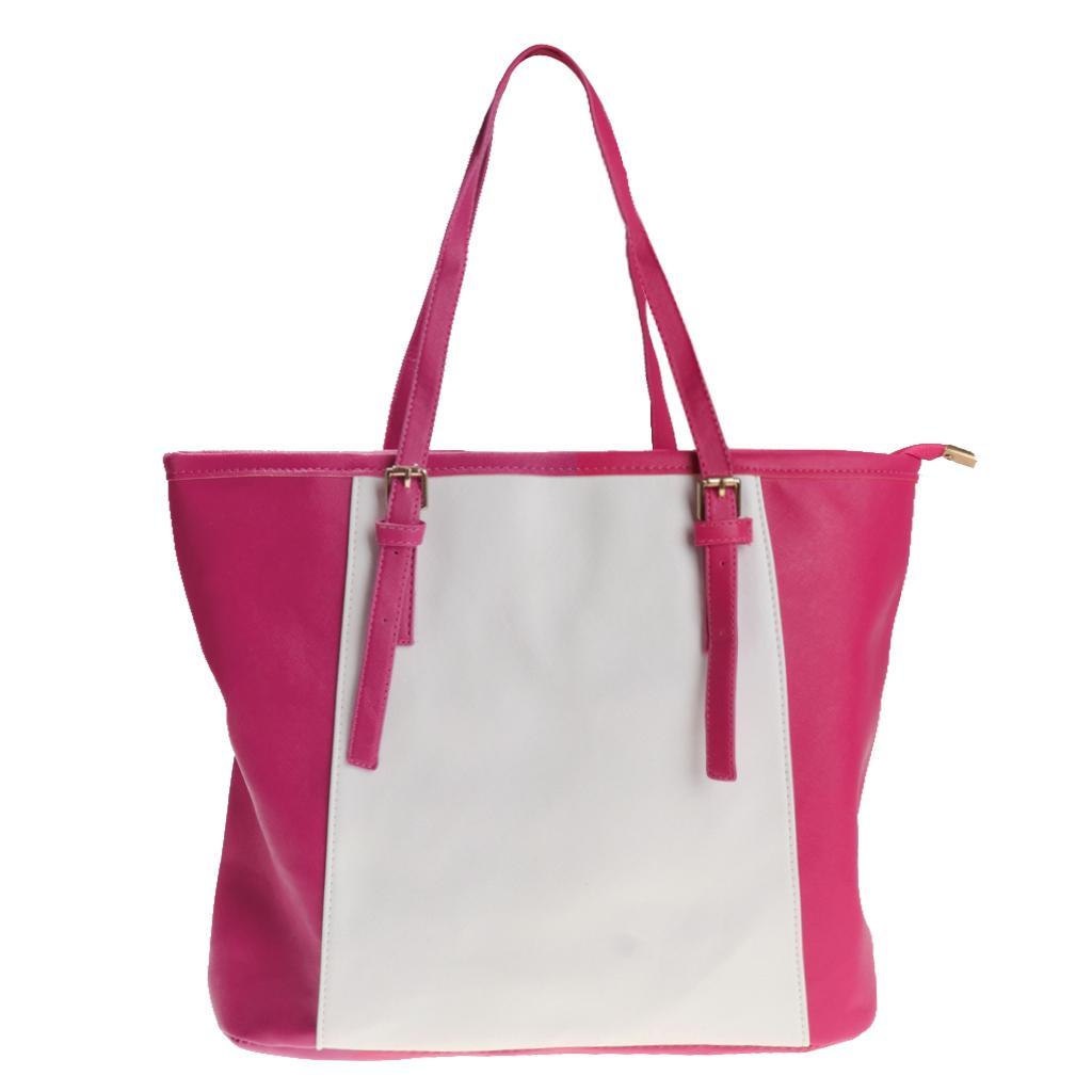 Women Girl Fashion Shoulder Bag Classical Handbag Stylish Tote Rose red