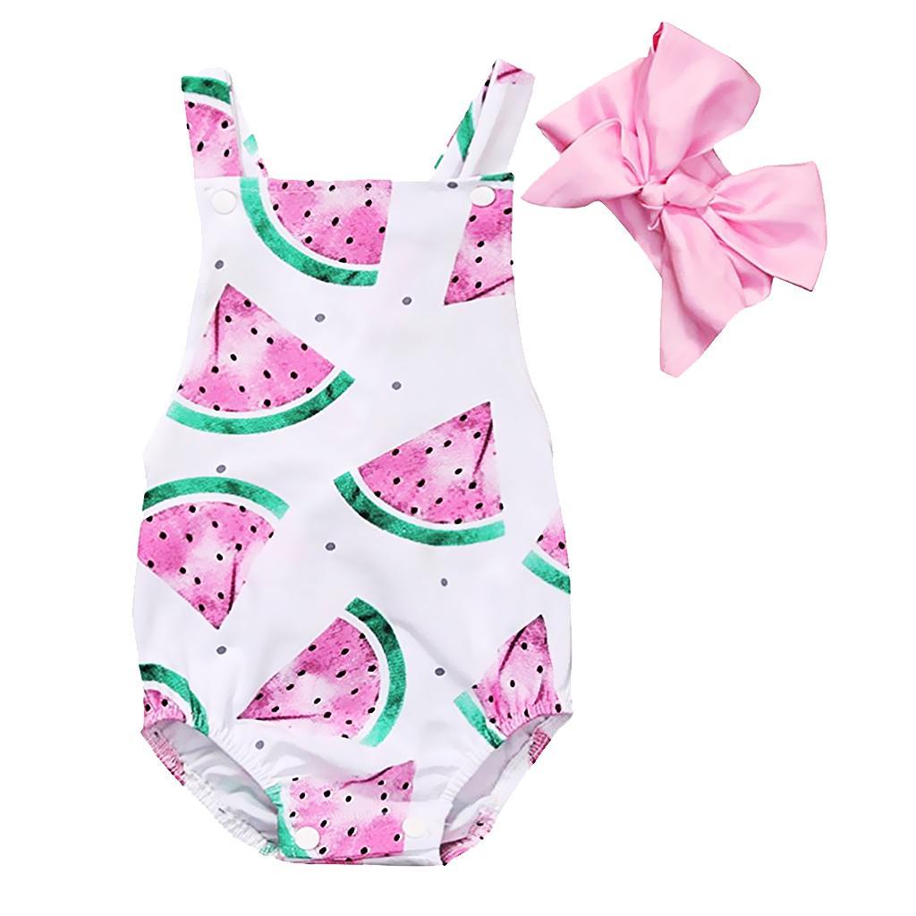Baby Girl Floral Romper Bodysuit Jumpsuit Outfits Sunsuit Clothes 6-12 Months  Pink